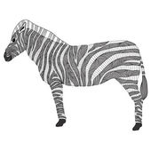 Cute pattern zebra — Stock Vector