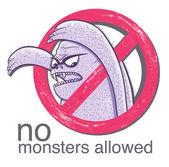 No monster allowd sign — Stock Vector