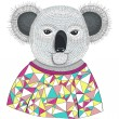 Cute hipster koala. — Stock Vector