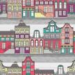 Cute Amsterdam houses seamless pattern — Stock Vector #39237761