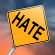 Stock Photo: Hate concept.