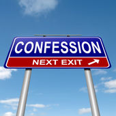 Confession concept. — Stock Photo