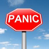 Panic concept. — Stock Photo