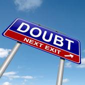 Concepto de duda. — Foto de Stock