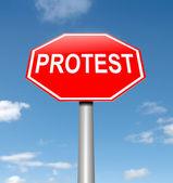 Concepto de protesta. — Foto de Stock