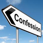 Concepto de confesión. — Foto de Stock