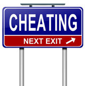 Cheating concept. — Stock Photo