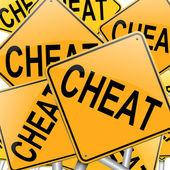 Cheat concept. — Stock Photo