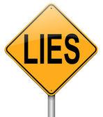 Lies concept. — Stock Photo