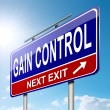 Gain control concept. — Stock Photo