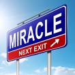 Miracle concept. - Stock Photo