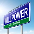 Willpower concept. — Stock Photo