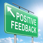 Positive feedback concept. — Foto de Stock
