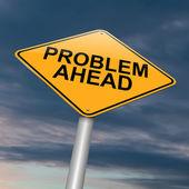 Problems ahead. — Stock Photo