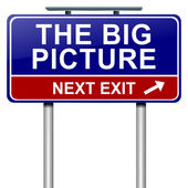 The big picture concept. — Stock Photo
