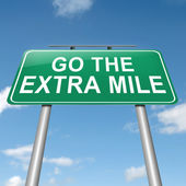 Go the extra mile. — Stock Photo