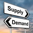 Supply and demand. — 图库照片