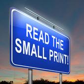 Small print concept. — Stock Photo