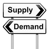 Supply and demand. — Stock Photo