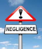 Negligence concept. — Stock Photo