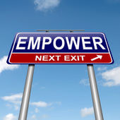 Empower concept. — Stock Photo