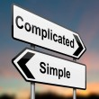 Complicated or simple. — Stock Photo