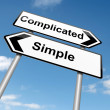 Постер, плакат: Complicated or simple