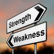 Strengths or weakness concept. — Stock Photo