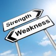 Strengths or weakness concept. — Stock Photo #13298612
