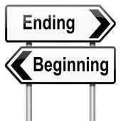 Empezar o terminar. — Foto de Stock