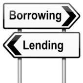 貸与、借りる. — ストック写真