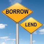 Prestar o pedir prestado. — Foto de Stock
