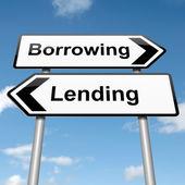 Půjčovat nebo půjčovat. — Stock fotografie