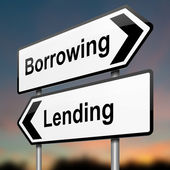 Låna eller låna. — Stockfoto