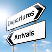 Arrivals and departures. — Stock Photo