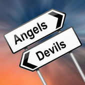 Angel or devil concept. — Stock Photo