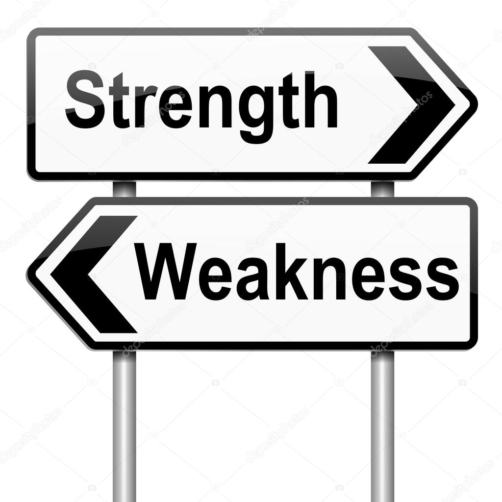 strengths or weakness concept stock photo copy soul  illustration depicting a roadsign a strength and weakness concept white background photo by 72soul