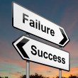 Stock Photo: Failure or success concept.