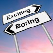 图库照片: Boring or exciting concept.
