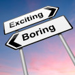 Boring or exciting concept. - Stock Photo