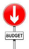 Budget decrease. — Stock Photo