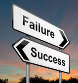 Selhání nebo úspěch koncepce. — Stock fotografie