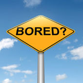 Boring concept. — Stock Photo