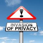 Постер, плакат: Invasion of privacy warning