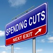 Spending cuts. — Stock Photo