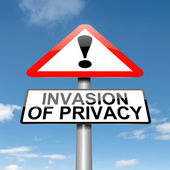 Invasion of privacy warning. — Stock Photo