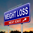 Weight loss concept. — Stock Photo