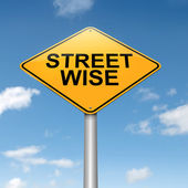 Street wise concept. — Stock Photo