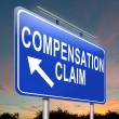 Stock Photo: Compensation claim.