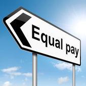 Concept de l'égalité de rémunération. — Photo